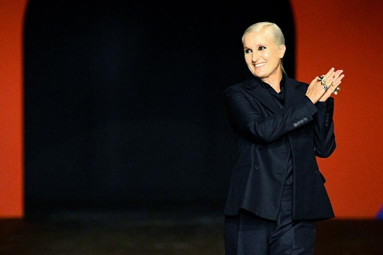 Maria Grazia Chiuri said the pandemic taught people the importance of sport (AFP/Christophe ARCHAMBAULT)