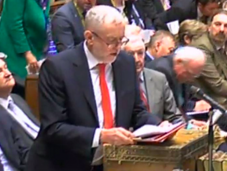 Jeremy Corbyn's performance at PMQs was blasted by his own MPs (PA)