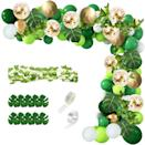 <p>Embrace the greenery with this <span>115-Piece Green and Gold Confetti Balloons with Palm Leaves Balloon Garland Kit</span> ($12). It's great for outdoor entertaining.</p>