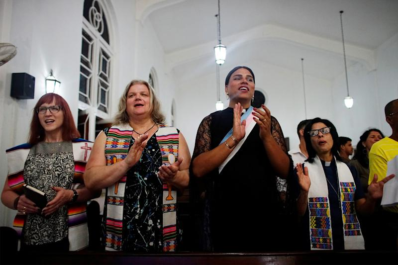 "As part of a <a href=""http://www.huffingtonpost.com/entry/transgender-mass-cuba_us_5914dedde4b0031e737c710f?ysa"">conference on queer theology in 2017,</a> three pastors from Brazil, Canada and the United States flew into Cuba to lead an LGBTQ-friendly worship service. The mass is believed to be a first for Cuba.&nbsp;<br />One participant, a&nbsp;26-year-old Cuban trans woman named&nbsp;Malu Duardo, told <a href=""http://www.reuters.com/article/us-cuba-lgbt-church-idUSKBN1830EZ"" target=""_blank"">Reuters</a>, ""I leave with having learnt a lot of things I can share with other trans, in particular that there is a God for everyone."""