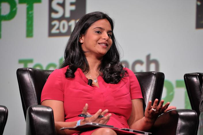 Ruchi Sanghvi at the TechCrunch Disrupt SF 2013 at San Francisco Design Center (Photo by Steve Jennings/Getty Images for TechCrunch)