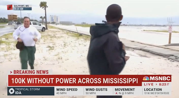 The Gulfport Police Department identified the man approaching MSNBC reporter Shaquille Brewster as Wooster, Ohio, resident Benjamin Eugene Dagley. According to a police press release, Dagley assaulted Brewster.