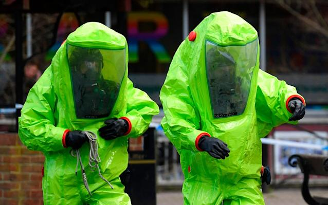 "The Novichok nerve agent used in the Salisbury spy attack was delivered in ""liquid form"", the Government has revealed. Officials from the Department for Environment, Food and Rural Affairs (Defra) said that only a ""very small amount"" of the substance was used to poison the former double agent Sergei Skripal and his daughter Yulia. The details emerged at a press briefing in Salisbury, where reporters were told the highest concentration of the deadly material was found at Mr Skripal's house. The Government also announced that the cleaning up of a handful of sites across Salisbury which were potentially contaminated as a result of the nerve agent attack will ""take a number of months"". Specialist military personnel will be deployed to ensure nine sites in the Wiltshire cathedral city are safe with police cordons in key areas to be replaced with secure fencing. Officials maintain that the risk to the public remains low after Mr Skripal and Yulia were poisoned on March 4. Russian spy poisoning 
