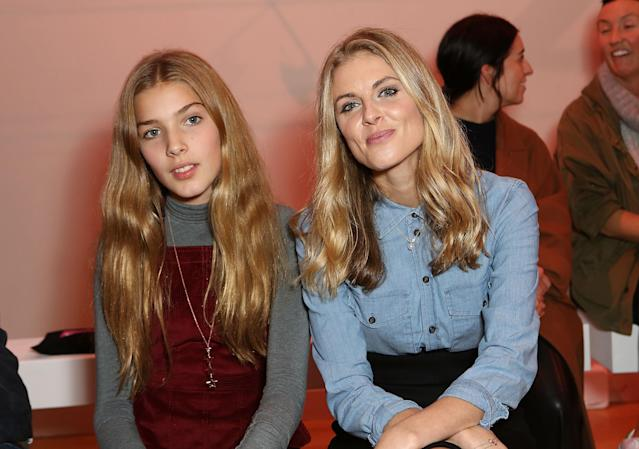 Donna Air and daughter Freya at a fashion show in 2015 (Getty Images)