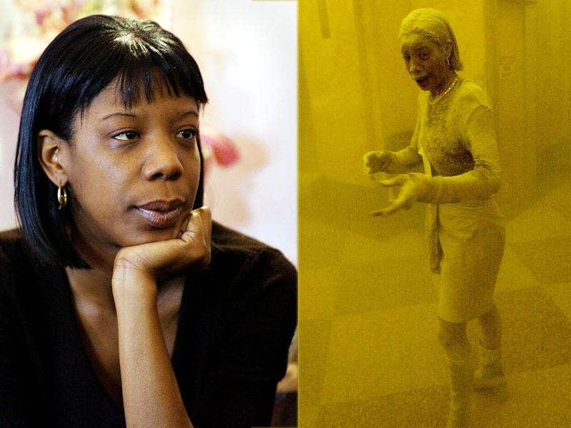 Marcy Borders took refuge in a nearby office building when New York's Twin Towers, where she worked for Bank of America, were attacked on September 11, 2001 (AFP Photo/Stan Honda)