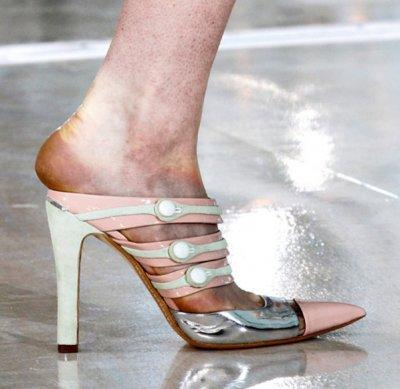This bruised and mangled foot is the result of too many fashion shows. Photo courtesy of darklamb.tumblr.com via Styleite