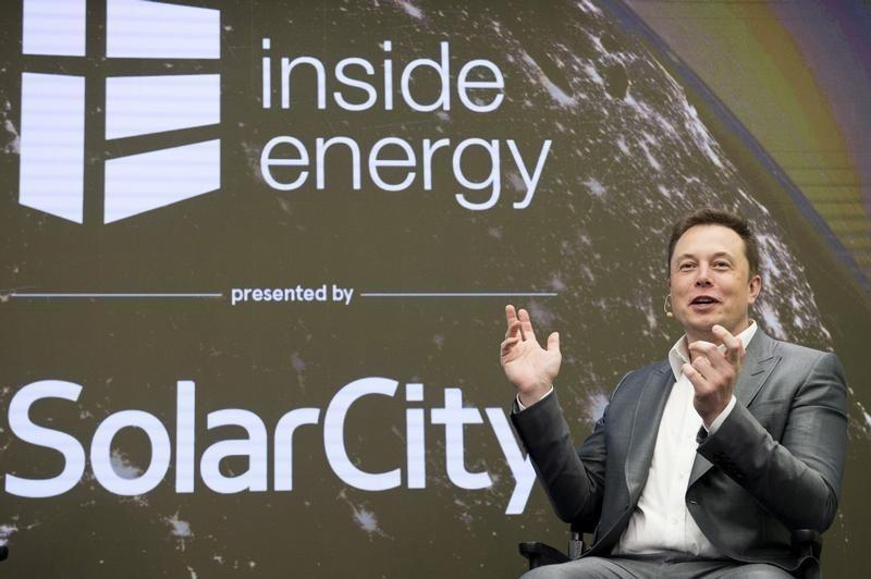 Elon Musk, Chairman of SolarCity and CEO of Tesla Motors, speaks at SolarCity?s Inside Energy Summit in Midtown, New York