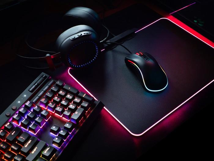 Video game keyboard and mouse.