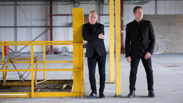 OMD's Paul Humphreys and Andrew McCluskey. (Photo courtesy of Pledge Music)