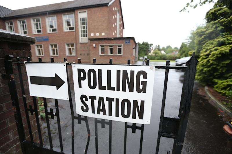 A file image of a polling station in Belfast during the 2017 general election (PA)