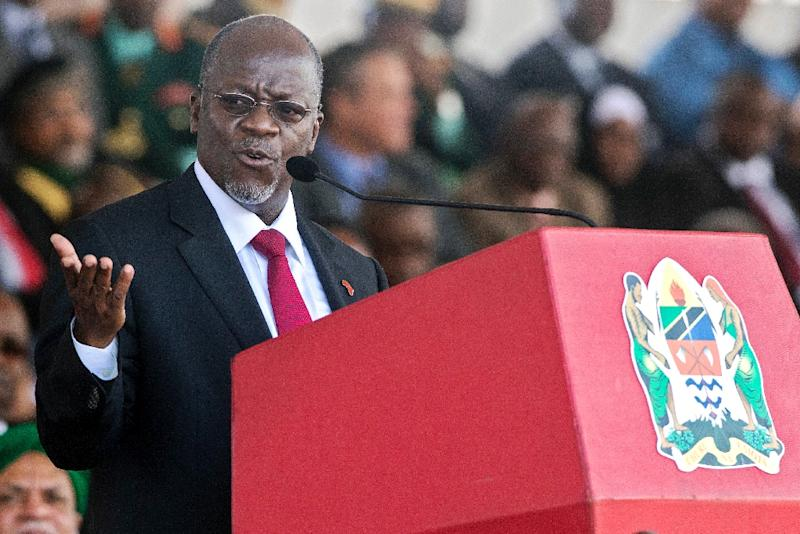 Tanzanian President John Magufuli, pictured here during his inauguration ceremony in 2015, has been accused by rights defenders of being authoritarian