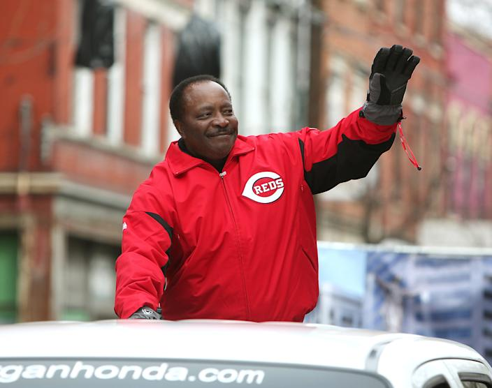 Cincinnati Reds Hall of Famer Joe Morgan was the grand marshal in the 92nd Findlay Market Parade on March 31, 2011, in Cincinnati. A family spokesman says the Hall of Fame second baseman died at his home Sunday, Oct. 11, 2020, in Danville, California.