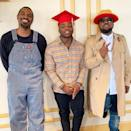 """Outkast's Andre 3000 joined Big Boi as he celebrated his son's high school graduation and acceptance to the University of Oregon. Cross will be joining the Oregon Ducks football team in the fall and proud dad Big Boi could not be more excited. """"Congrats Son ! Cross """" The Boss """" Patton ! Oregon here we come! #GoDucks 🦆,"""" the rapper <a href=""""https://www.instagram.com/p/BxVK9sqphat/"""" rel=""""nofollow noopener"""" target=""""_blank"""" data-ylk=""""slk:wrote"""" class=""""link rapid-noclick-resp"""">wrote</a> on Instagram to share the great news with his fans."""
