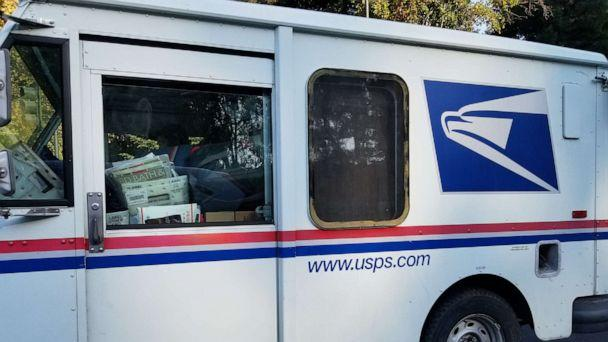 PHOTO: In this Oct. 18, 2017, file photo, a United States Postal Service (USPS) delivery truck delivers mail and packages in San Ramon, Calif. (Smith Collection/gado/Getty Images, FILE)