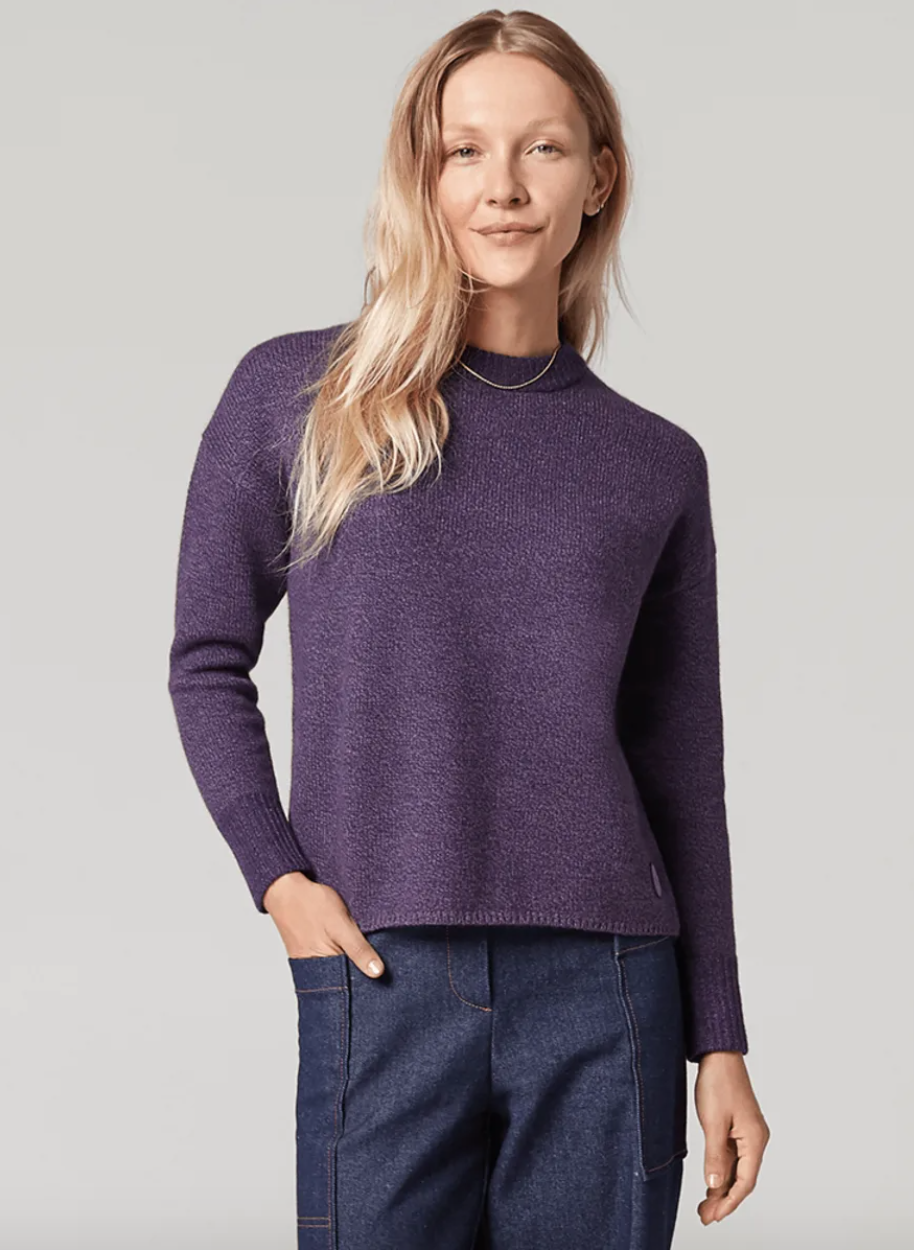 The Wool Pullover is available in three different colours for both men and women.