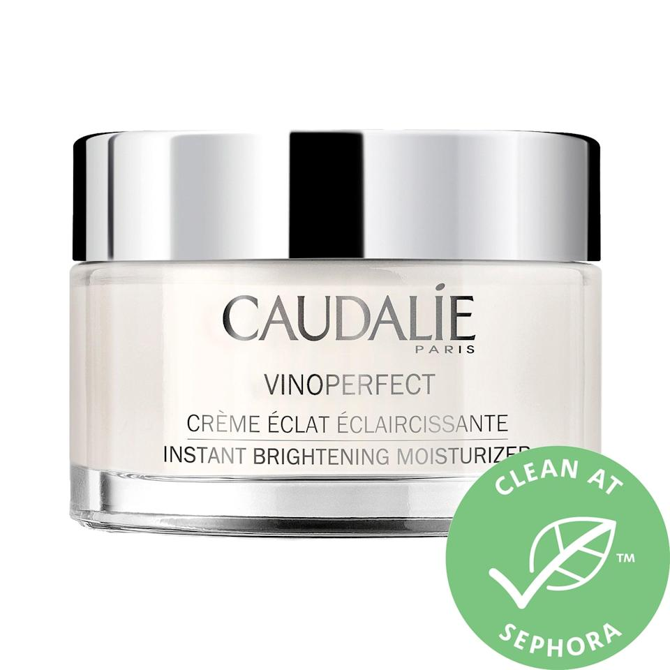 "<p>When you want to give your skin a boost <em>and</em> re-create the spa experience from the comfort of your bathroom, look no further than the decadent <a href=""https://www.popsugar.com/buy/Caudalie-Vinoperfect-Brightening-Moisturizer-Niacinamide-588066?p_name=Caudalie%20Vinoperfect%20Brightening%20Moisturizer%20With%20Niacinamide&retailer=sephora.com&pid=588066&price=59&evar1=bella%3Aus&evar9=47606854&evar98=https%3A%2F%2Fwww.popsugar.com%2Fphoto-gallery%2F47606854%2Fimage%2F47606861%2FCaudalie-Vinoperfect-Brightening-Moisturizer-With-Niacinamide&list1=skin%20care&prop13=api&pdata=1"" class=""link rapid-noclick-resp"" rel=""nofollow noopener"" target=""_blank"" data-ylk=""slk:Caudalie Vinoperfect Brightening Moisturizer With Niacinamide"">Caudalie Vinoperfect Brightening Moisturizer With Niacinamide</a> ($59).</p>"