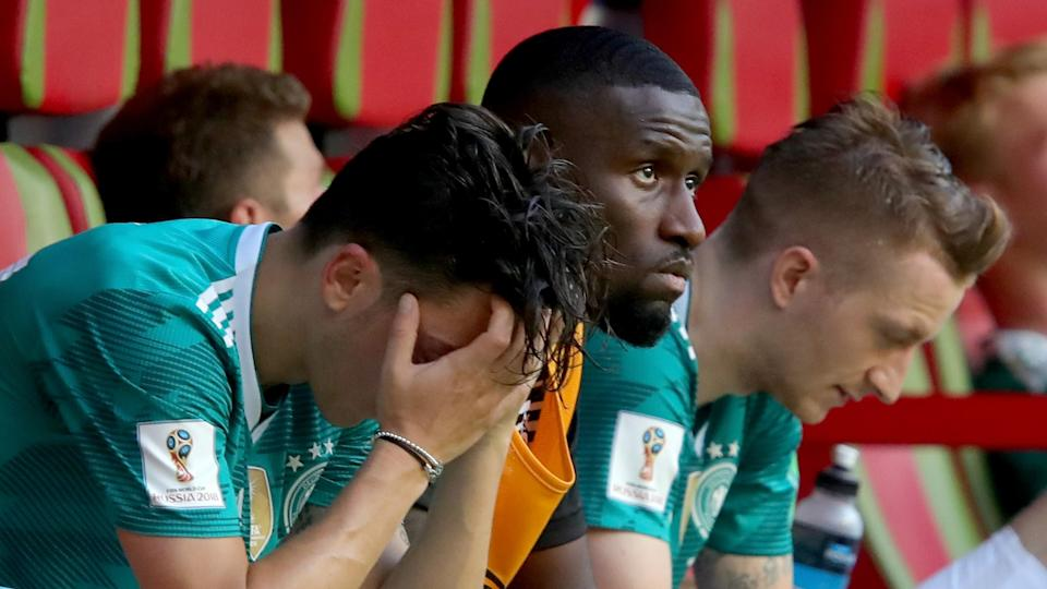 The defending champs' 2018 World Cup ended in unceremonious fashion Wednesday in a 2-0 loss to South Korea. (AP)