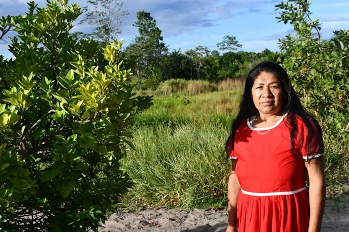 """Cecilia Rivas is the """"captain"""" of the Kariña women, a small Indigenous community living in Venezuela whose lands are threatened by industry. (Photo: María González Guevara)"""