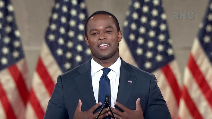 Daniel Cameron speaks during the virtual Republican National Convention on August 25, 2020. (via Reuters TV)