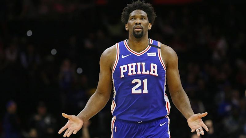 Embiid out vs. Knicks after spraining shoulder Wednesday