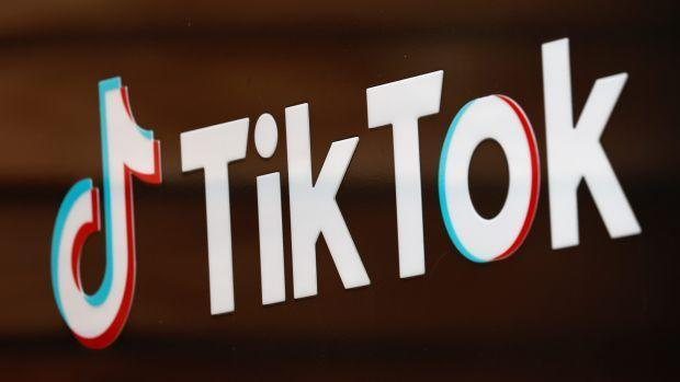 The TikTok logo is pictured outside the company's U.S. head office in Culver City, California