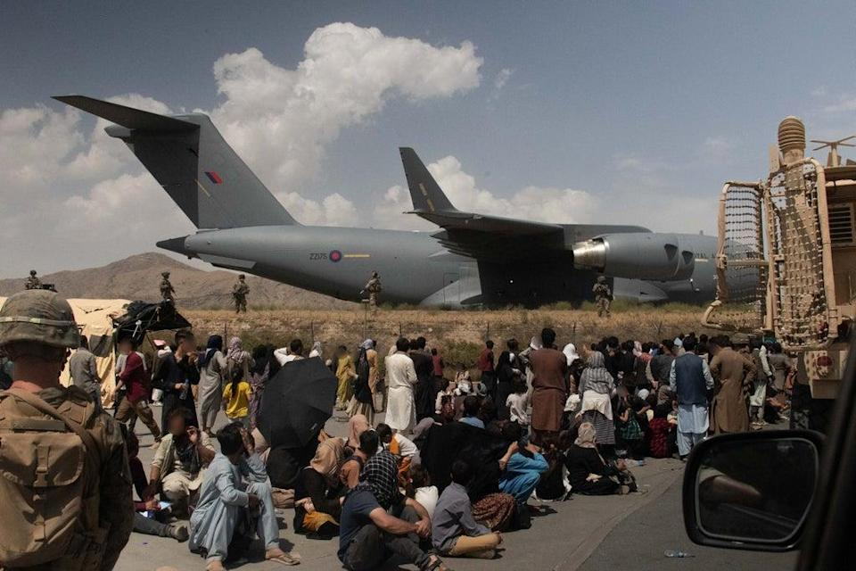 The MoD said 7,109 people have been evacuated so far (LPhot Ben Shread/MoD/Crown Copyright/PA) (PA Media)
