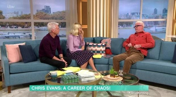 Chris Evans pulled down his trousers live on This Morning (Credit: ITV)