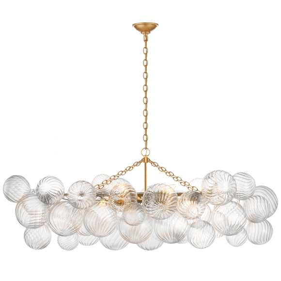 "<p><strong>Visual Comfort</strong></p><p>circalighting.com</p><p><strong>$2199.00</strong></p><p><a href=""https://www.circalighting.com/talia-medium-linear-chandelier-jn5116/"" rel=""nofollow noopener"" target=""_blank"" data-ylk=""slk:Shop Now"" class=""link rapid-noclick-resp"">Shop Now</a></p><p>This chandelier features swirled glass, adding visual interest without being too ""look at me."" </p>"