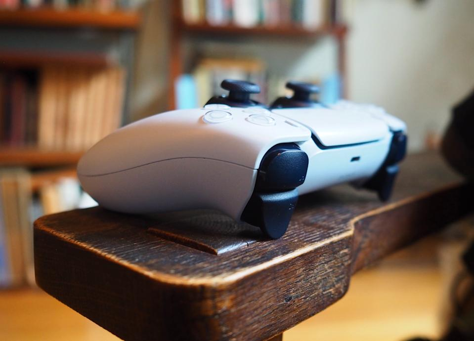 Close up image of a Sony DualSense controller