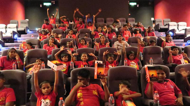 The children were all smiles as they sat back to enjoy 'The Lion King' film for the first time at TGV Cinemas. — Picture courtesy of Redberry Ambient