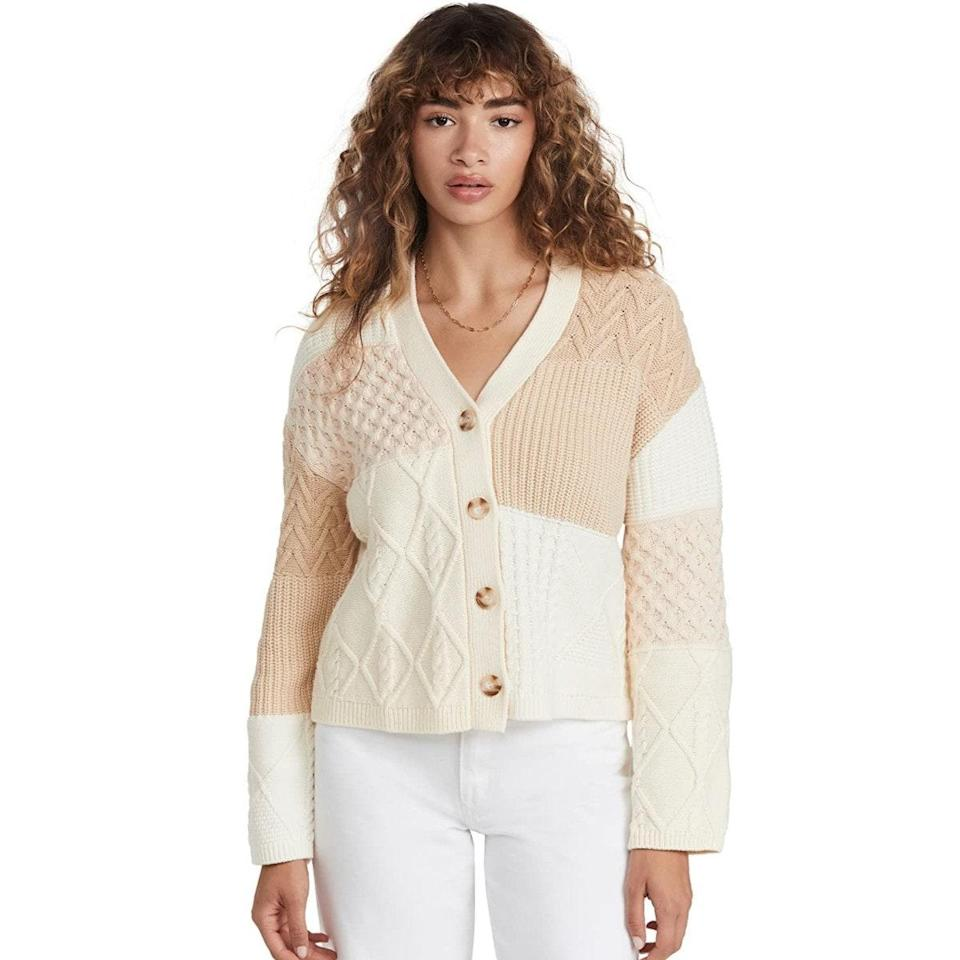 """Colorblock, but make it textural: The collage effect on this chunky knit looks fresh, but won't feel dated in seasons to come. $228, Amazon. <a href=""""https://www.amazon.com/Rails-Womens-Reese-Cardigan-Patchwork/dp/B09F4YHM9K/"""" rel=""""nofollow noopener"""" target=""""_blank"""" data-ylk=""""slk:Get it now!"""" class=""""link rapid-noclick-resp"""">Get it now!</a>"""