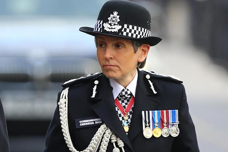 Met Police commissioner Cressida Dick makes her way to Southwark Cathedral for PC Keith Palmer's funeral: PA