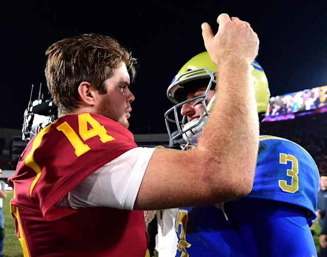 The New York Giants like Sam Darnold but not Josh Rosen for their No. 2 pick in the NFL Draft later this month. (Getty Images)