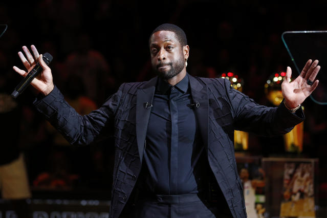 Dwyane Wade isn't happy about his son's playing time. (Michael Reaves/Getty Images)