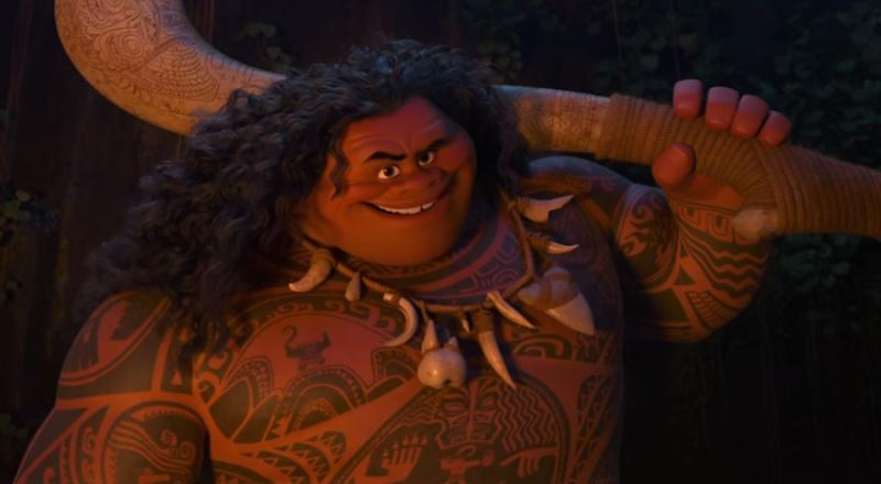 Why people are upset about this character s weight in for Disney s moana maui s magical fish hook