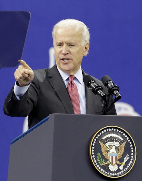 U.S. Vice President Joe Biden delivers a speech at Yonsei University in Seoul, South Korea, Friday, Dec. 6, 2013. Vice President Biden said changes in Asia are remaking the world. He said we're at a rare inflection point where we have a chance to bend history. (AP Photo/Lee Jin-man)