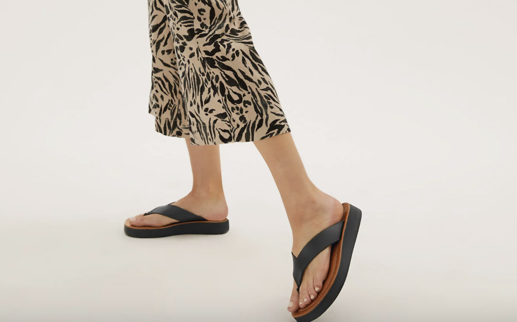Flatform Flip Flops are in, and we plan to wear M&S' stylish design all summer long.  (Marks & Spencer))