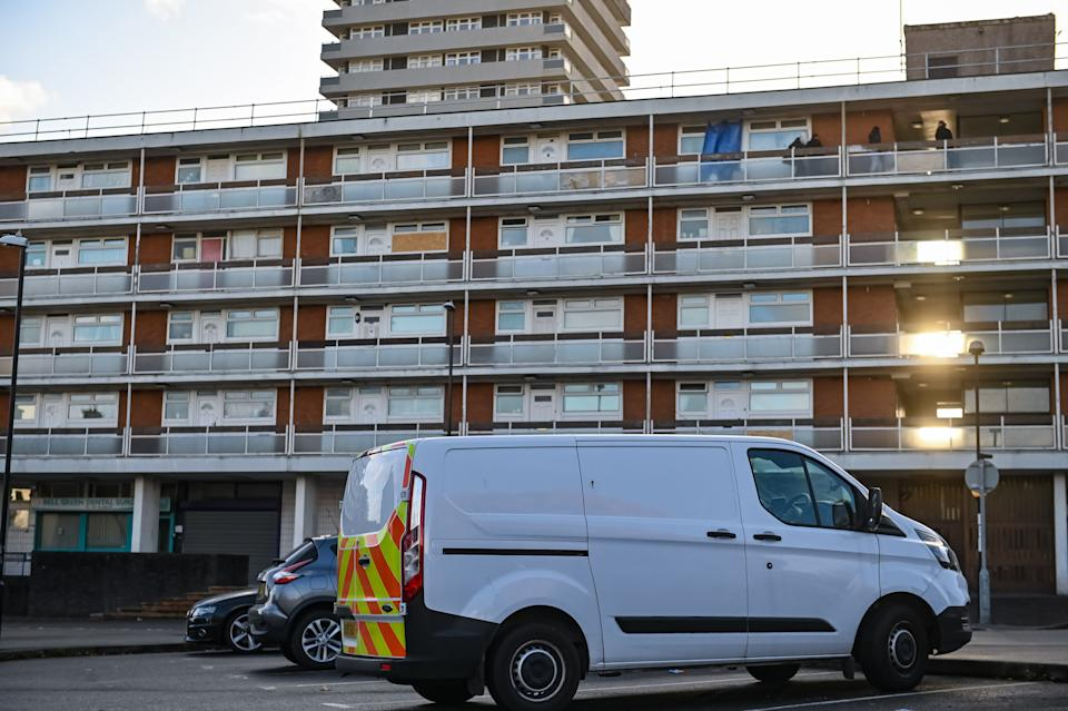 The scene at Julie Williams' flat in Coventry on 26 October. (SWNS)