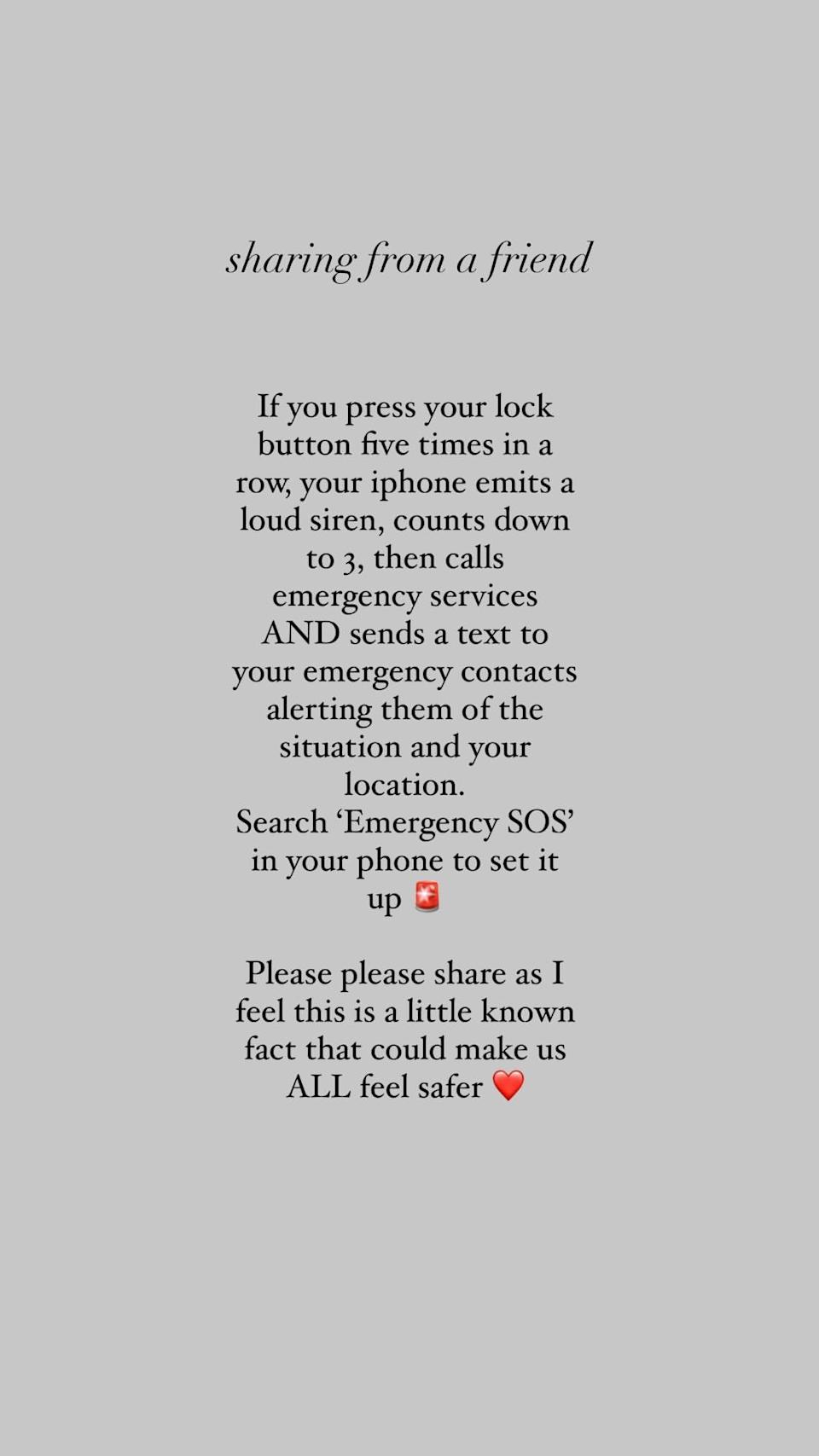 Instagram user The India Edit, shared an iPhone hack following Sarah's disappearance. Photo: Instagram/TheIndiaEdit