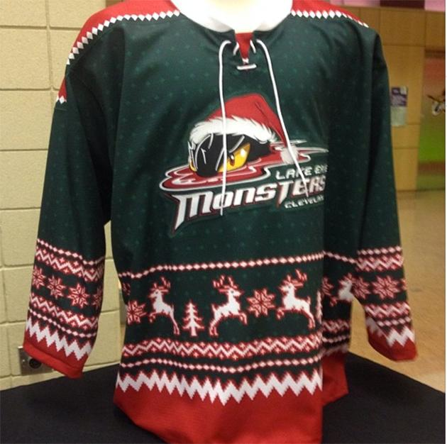 Crying humbug on hockey s ugly Christmas sweater jerseys c5e41ce9049