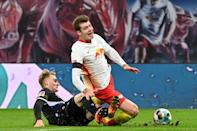 Norwegian striker Alexander Sorloth has yet to score for RB Leipzig after having a penalty attempt saved on Saturday