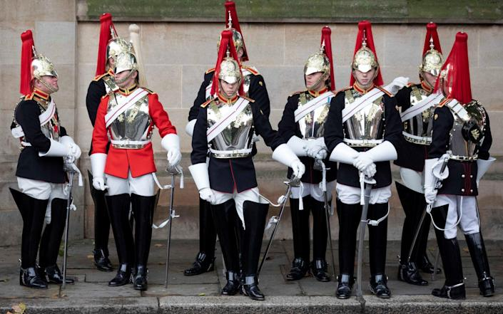 Members of the Blues and Royals, a Unit of the Household Cavalry - AFP