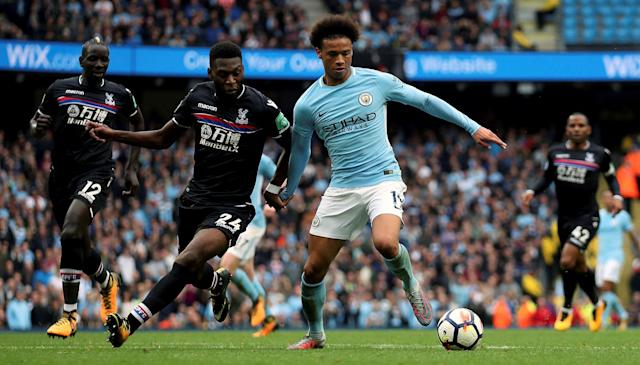 Leroy Sane's opener against Crystal Palace was his fifth goal in as many games.