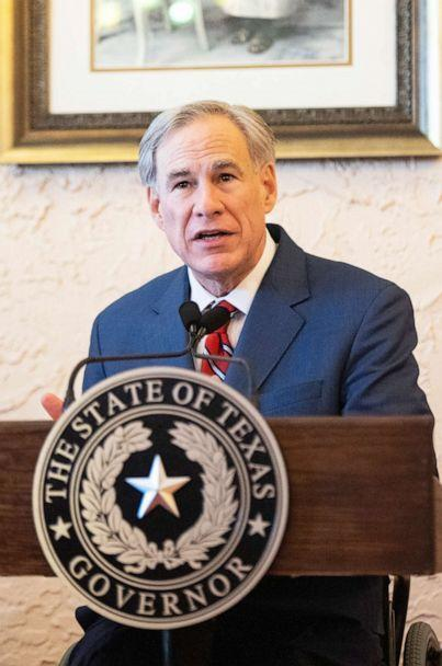 PHOTO: Texas Governor Greg Abbott delivers an announcement in Lubbock, Texas, March 2, 2021. (Justin Rex/AP)