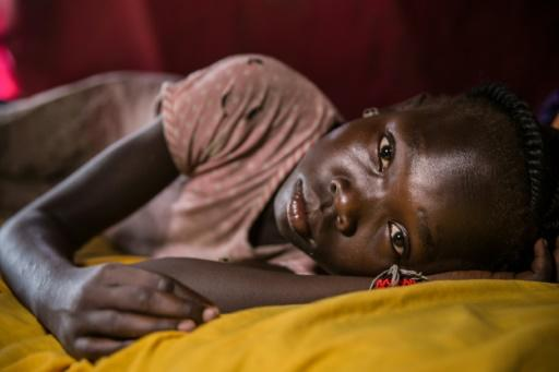 Little respite: Ten-year-old Angelina Anyanya, who has epilepsy, at a camp for displaced people in Juba