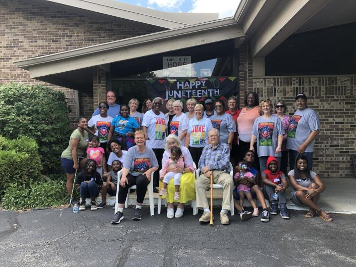 Members of Hope Presbyterian Church and Bethel New Life Church, who share worship space in Wheaton, Ill., gathered for a Juneteenth picnic to mark the completion of a racial reconciliation program based on Latasha Morrison's book,