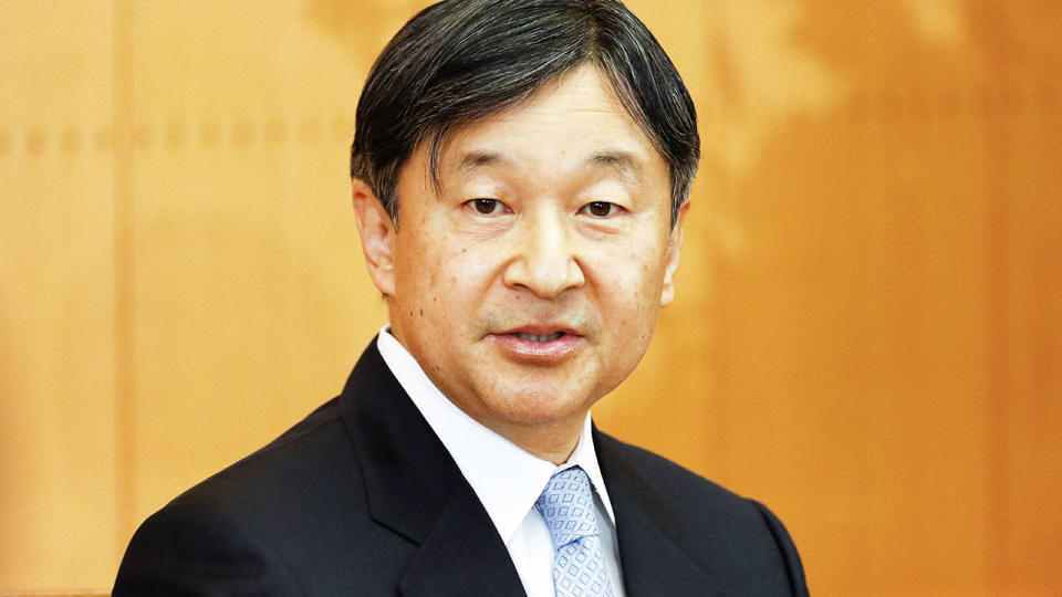 Emperor Naruhito, pictured here at a press conference in Tokyo in 2020.