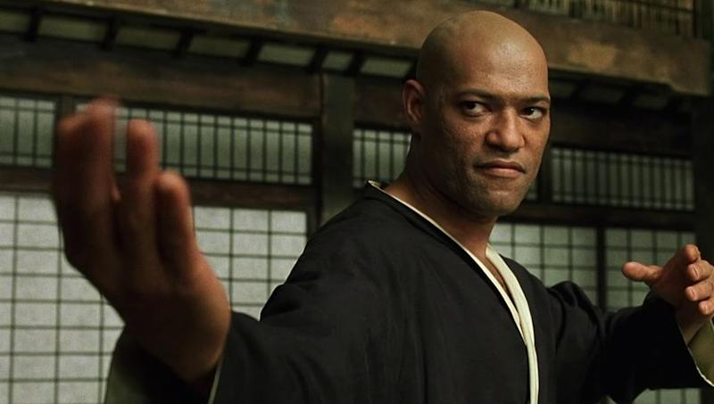 Fishburne as Morpheus in The Matrix (Credit: Warner Bros)
