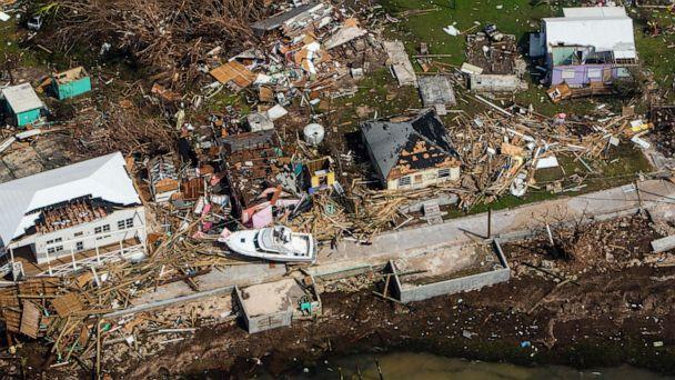 PHOTO: An aerial view of destroyed structures on the Abaco Islands in the Bahamas after Hurricane Dorian swept through the area, on Sept. 4, 2019. (Scott Mcintyre/The New York Times via Redux)