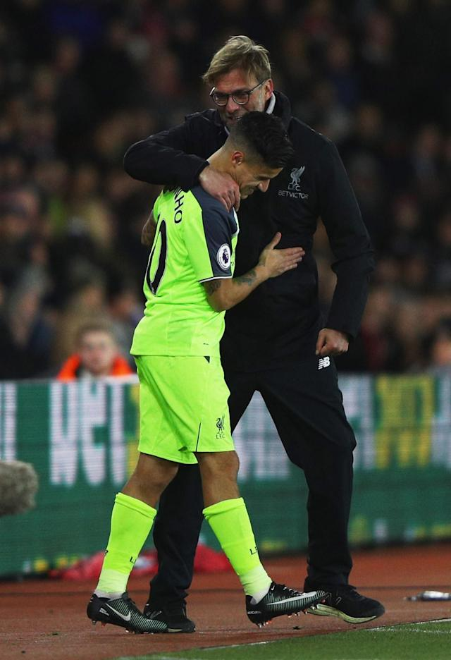 <p>Philippe Coutinho makes his return to the Liverpool team just after the hour mark (Getty Images) </p>